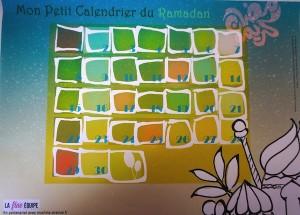 calendrier enfant ramadan