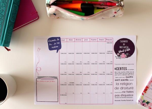 calendrier dhoul qida