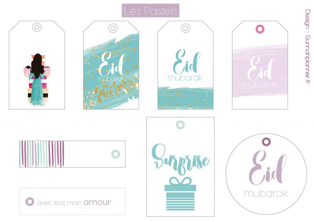 étiquettes cadeaux eid